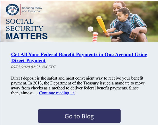 Social Security Administration Encourages Direct Deposit for Recipients