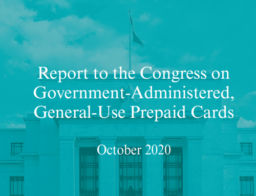 Federal Reserve Report to Congress on Government Prepaid Cards